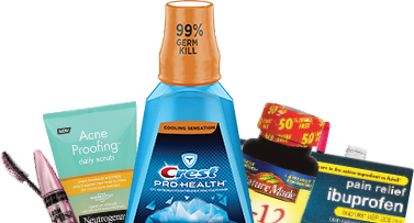 image of various products available at Rite Aid